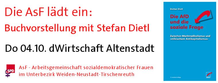 AsF: Buchvorstellung Stefan Dietl - Die AfD und die soziale Frage